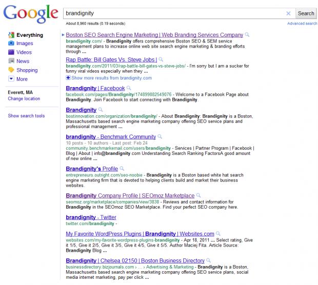 Google Search Result Screenshot