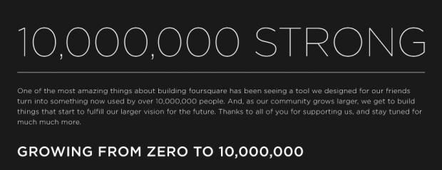 Foursquare Milestone