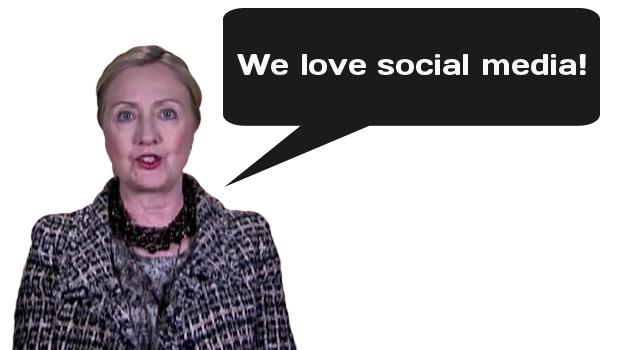 Hillary Clinton Loves Social Media