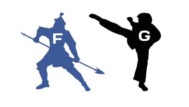 Facebook vs Google Social Fight
