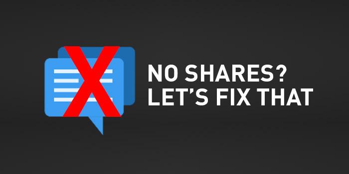 No Social Sharing