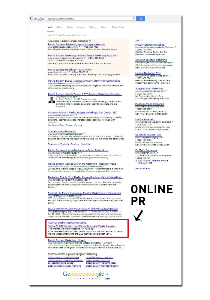 Online PR Example