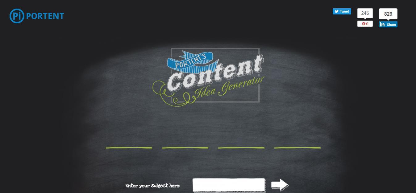 Portents Title Generator