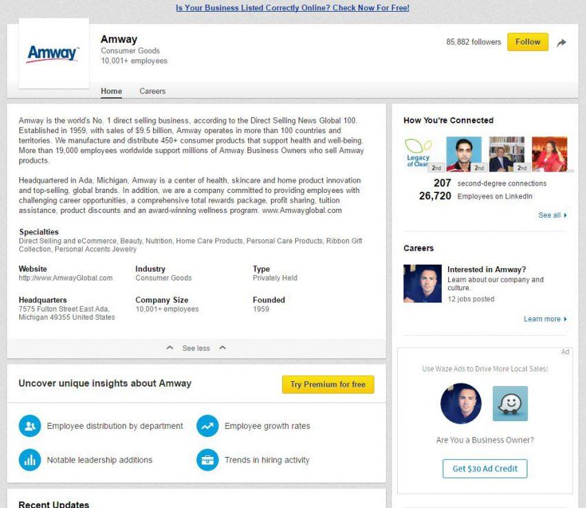 Amway LinkedIn
