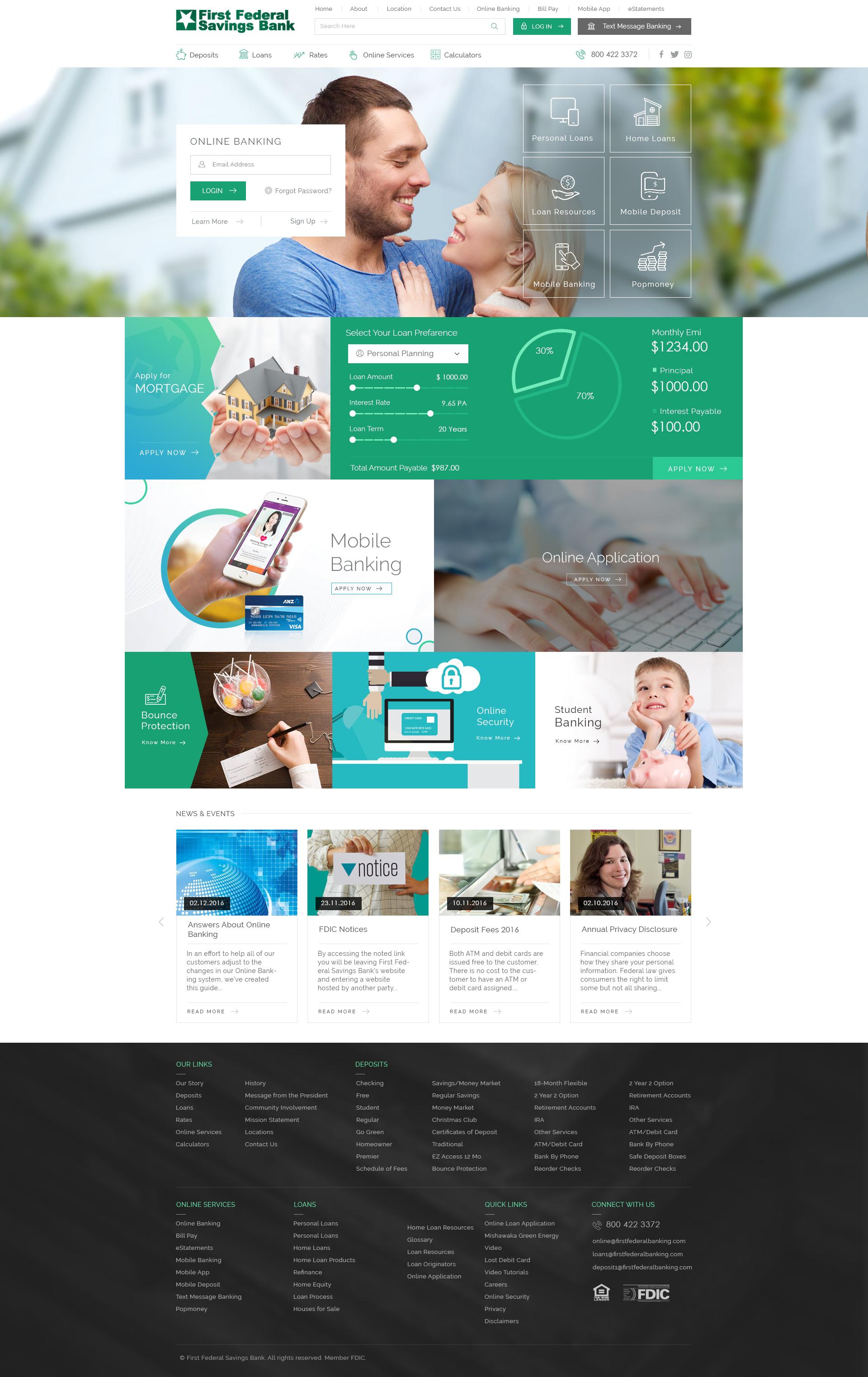 First Federal Homepage Mockup