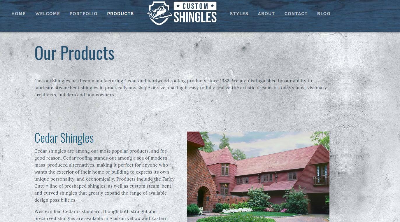 custom shingles